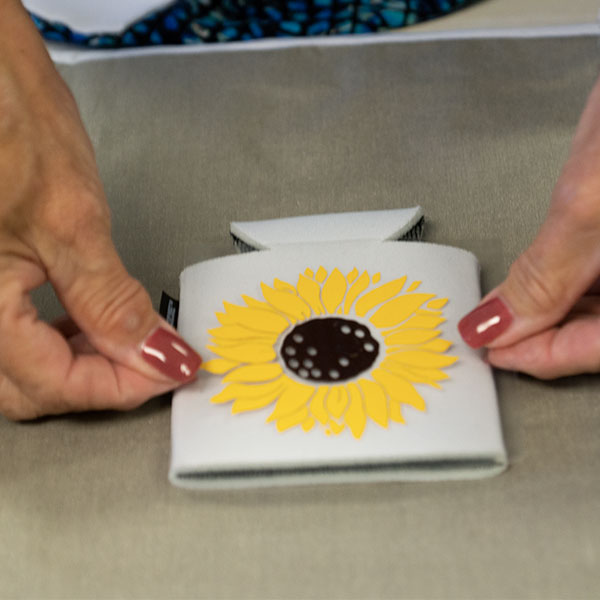 Koozie® can cooler DIY sunflower Deb Bratcher