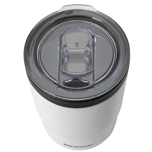 Koozie® Stainless Steel Insulated Triple Can Cooler 12 oz White top angle