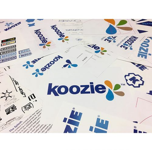 process for creating Koozie® logo