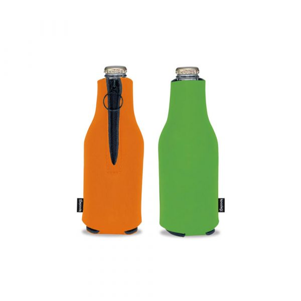 Koozie® Foam Zip-Up Bottle Cooler - Assorted 2
