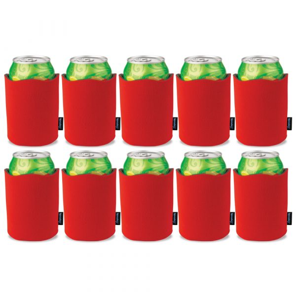 Koozie® Fancy Edge Can Cooler - Pack of 10 - Red - 46383